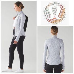 Lululemon Define Jacket in Ice Grey and White